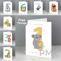 Personalised Animal Birthday Card