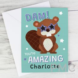 Personalised Dam You're Amazing Card