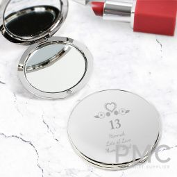 Personalised Birthday Craft Compact Mirror