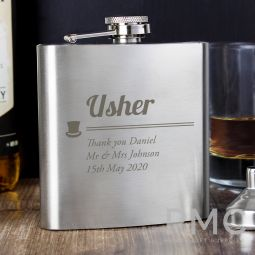 Personalised Usher Hip Flask