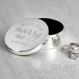 Personalised Will You Marry Me Ring Box