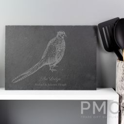 Personalised Pheasant Slate Placemat