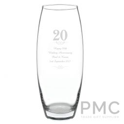 Personalised 20 Years Bullet Vase