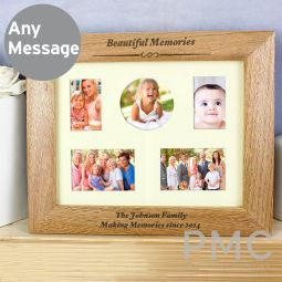 Personalised Any Message 10x8 Landscape Wooden Photo Frame