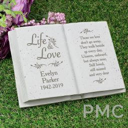Personalised Life & Love Memorial Book