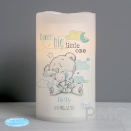 Personalised Tiny Tatty Teddy Dream Big Blue Nightlight LED Candle