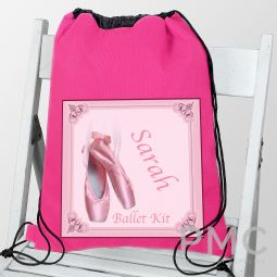 Personalised Ballet Shoes Dance & School bag