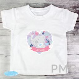 Personalised Tiny Tatty Teddy Girl's T-shirt 1-2 Years