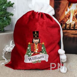 Personalised Red Nutcracker Sack
