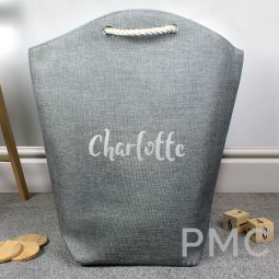 Personalised Silver Name Storage Bag