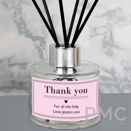 Personalised Classic Pink Reed Diffuser