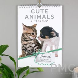 Personalised A4 Cute Animals Calendar