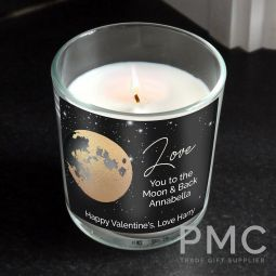 Personalised You Are My Sun My Moon Scented Jar Candle