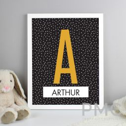 Personalised Initial White Framed Print