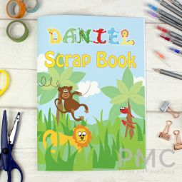 Personalised Blue Animal Alphabet - A4 Scrapbook