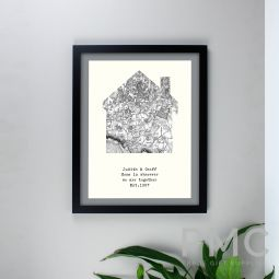 Personalised 1805 - 1874 Old Series Map Home Black Framed Print
