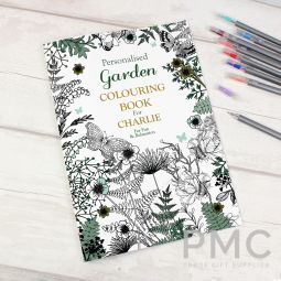 Personalised Gardening Colouring Book