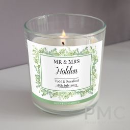 Personalised Fresh Botanical Scented Jar Candle