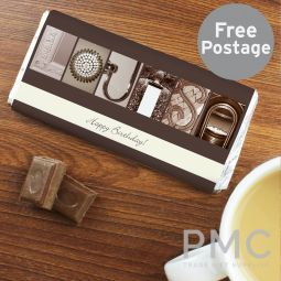 Personalised Any Message Affection Art Milk Chocolate Bar