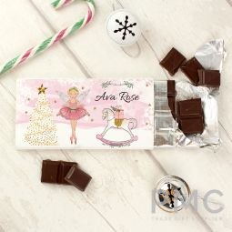 Personalised Sugar Plum Fairy Milk Chocolate Bar