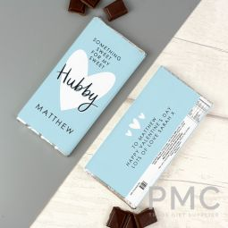 Personalised My Sweet Hubby Milk Chocolate Bar