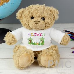 Personalised Girls Animal Alphabet Message Bear