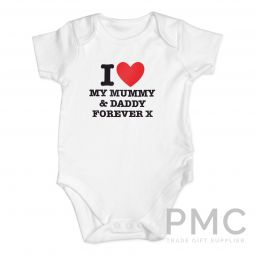 Personalised I HEART 0-3 Months Baby Vest