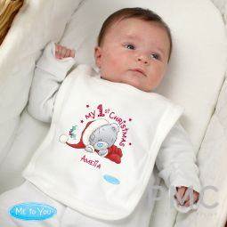 Personalised Me To You My 1st Christmas Bib