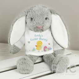 Personalised Easter Meadow T-Shirt Bunny