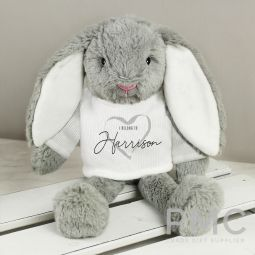 Personalised 'I Belong To' Bunny Rabbit