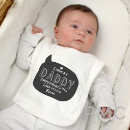 Personalised Speech Bubble Bib