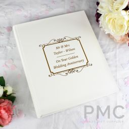 Personalised Gold Album With Sleeves