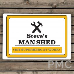 Personalised Man At Work Sign