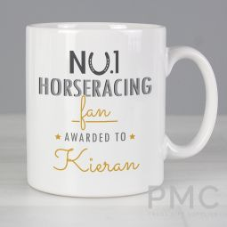 Personalised No.1 Horseracing Fan Mug