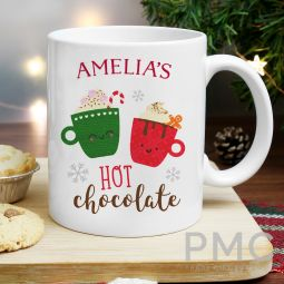 Personalised Cute Christmas Hot Chocolate Mug