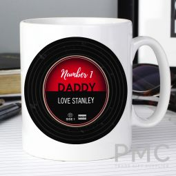 Personalised Vintage Record Mug