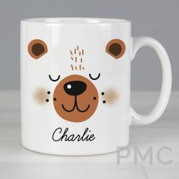 Personalised Cute Bear Face Mug