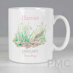 Personalised Country Diary January Mug