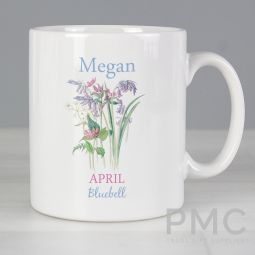 Personalised Country Diary April Mug