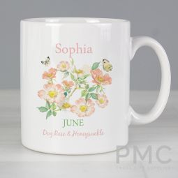 Personalised Country Diary June Mug