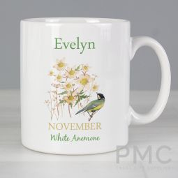 Personalised Country Diary November Mug