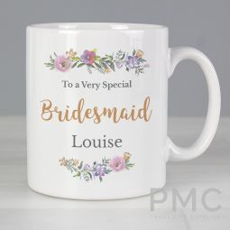 Personalised Floral Message Mug