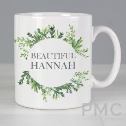 Personalised Botanical Mug