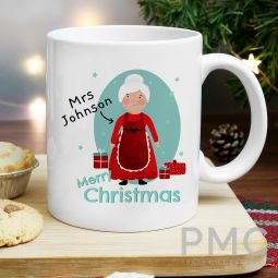 Personalised Mrs Claus Mug