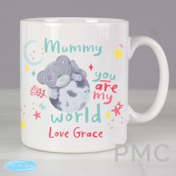 Personalised You Are My World Me To You Mug