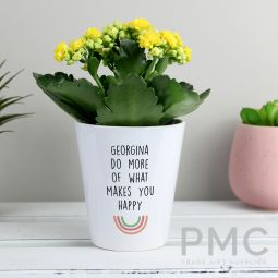 Personalised Rainbow Plant Pot