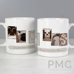 Personalised Affection Art Mr & Mrs Mug
