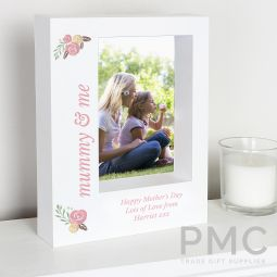 Personalised Floral 7x5 Box Photo Frame