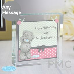 Personalised Me To You Pastel Polka Dot for Her Large Crystal Token