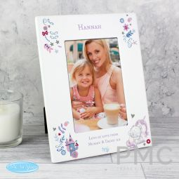 Personalised Tiny Tatty Teddy Unicorn 6x4 Photo Frame